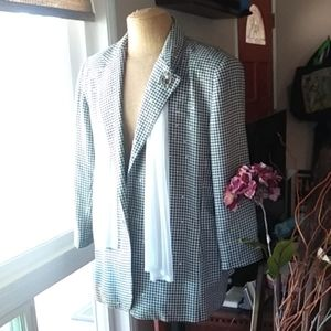 Fully Lined Vintage Houndstooth Jacket size 3x